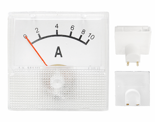 Ampérmeter analógový mini, 10A DC s bočníkom